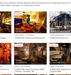privatisation de bars à Paris pour feter un anniversaire