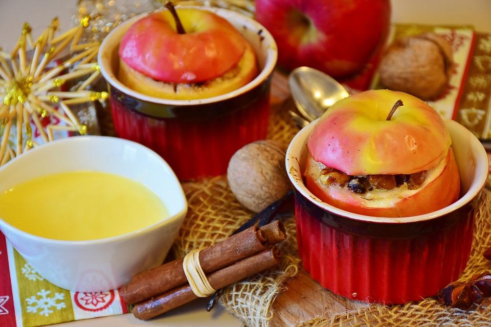 pommes au four dessert diététique